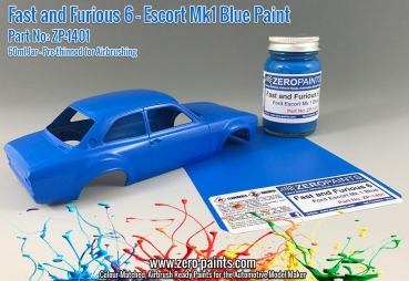 ZEROPAINTS ZP-1401 Fast and Furious 6 Ford Escort Mk 1 Blue Paint 60ml
