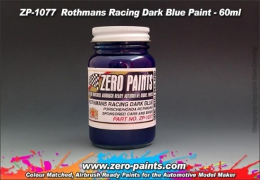 ZEROPAINTS ZP-1077 Rothmans Racing Dark  Blue Porsche 991 RSR Le Mans 2018 Paint 60ml