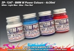 ZEROPAINTS ZP-1247 BMW M Power Colours Paint Set 4x30ml