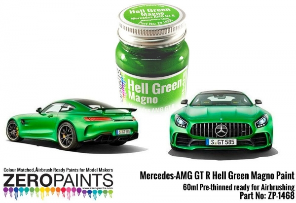 ZEROPAINTS ZP-1468 Mercedes AMG GT R Hell Green (Matt) Paint 60ml